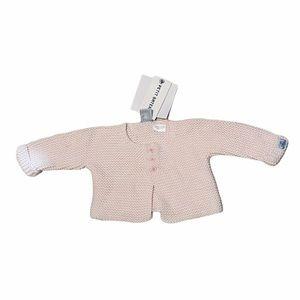 PETIT BATEAU**Light Pink Baby Cardigan**1 Mo. $118